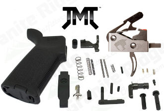 JMT MOE AR-15 Lower Parts Kit - 3.5lb Saber - Various Styles - JMT James Madison Tactical Saber Trigger - JMTDITTRIG