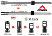 "Ballistic Advantage 16"" .223 Wylde BABL223013P - BABL223025P and VG6 Muzzle Device Combo Sale!"