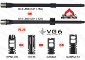 "Ballistic Advantage 16"" 5.56 Barrel BABL556013F - BABL556025F and VG6 Precision Muzzle Device COMBO SALE"