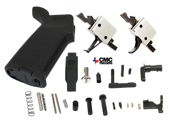 CMC Flat or Curved MOE AR-15 Lower Parts Kit - Various Colors