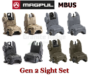 Magpul MBUS Front and Rear Sight Set - Various Colors, MAG247, MAG248