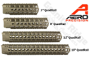 APPG100003 - FDE Aero Precision AR15 Enhanced Quad Rail Handguards - FDE Cerakote
