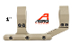 "APRA210410 Aero Precision Ultralight 1"" Scope Mount, Extended - FDE Cerakote"