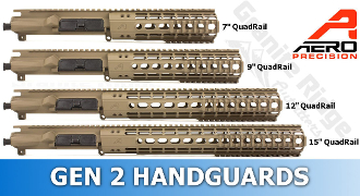 APPG110001 - Aero Precision M4E1 Enhanced Upper/Handguard Combo - Quad Rail FDE GEN 2