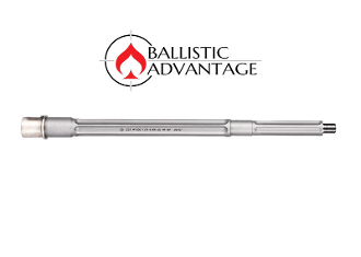 "BABL223028PL - Ballistic Advantage 14.5"" .223 Wylde SPR Fluted Stainless Steel Midlength AR 15 Barrel, Premium Series"