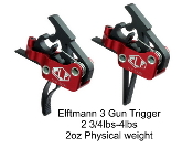 ELF 3-Gun Trigger - Curved or Straight 2 3/4lbs-4lbs Drop In - Elftmann Tactical 3-Gun-736902490129 - 3-Gun-736902490143