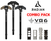 Radian Raptor LT Charging Handle AR10 + VG6 Muzzle Device COMBO