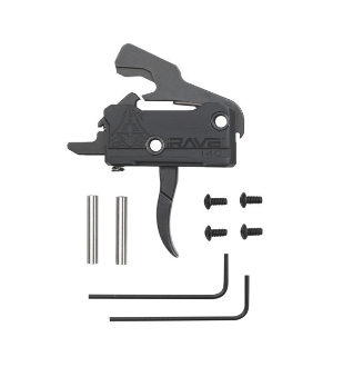 T017-BLK RAVE 140 - RISE Armament RAVE Curved Trigger with Anti-Walk Pins
